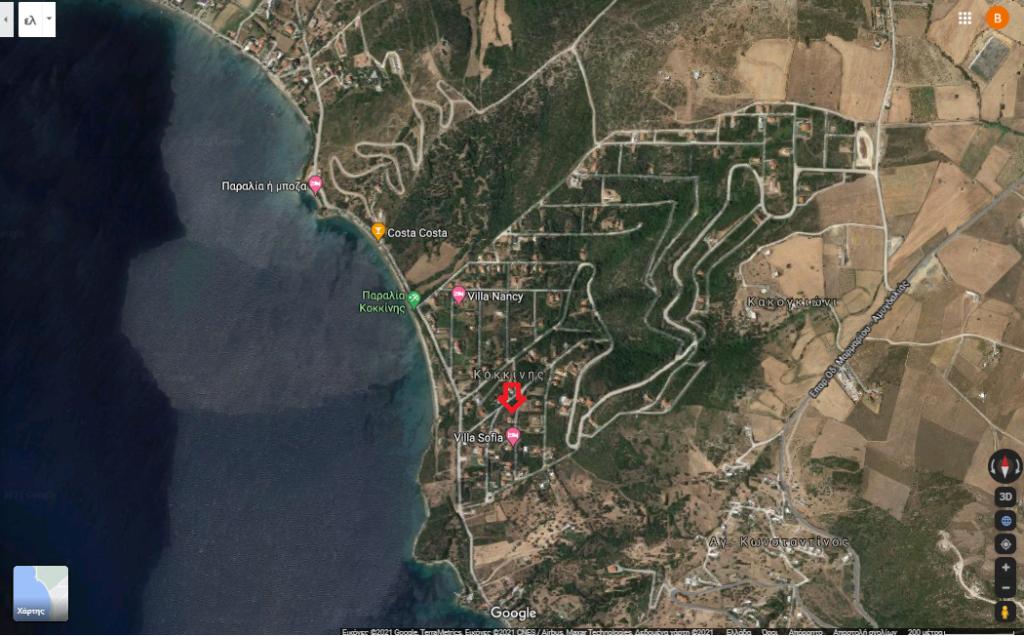 Οικόπεδο, προς πώληση 516 τ.μ. στο Μαρμάρι Ευβοίας (Περιοχή Κόκκινης) | 65.000 €